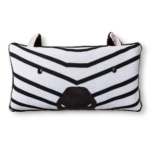 NWT Zebra Body Pillow Black & White - Pillowfort
